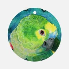 Blue-Fronted Amazon Round Ornament