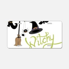 Witchy Aluminum License Plate