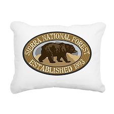 Sierra Brown Bear Badge Rectangular Canvas Pillow