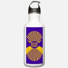 Rugby Spokes Gold Purp Water Bottle