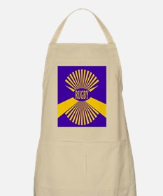 Rugby Spokes Gold Purple Apron