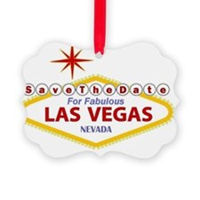 Save the Date Las Vegas Card Ornament