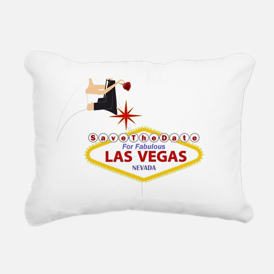 Save the Date for Las Ve Rectangular Canvas Pillow