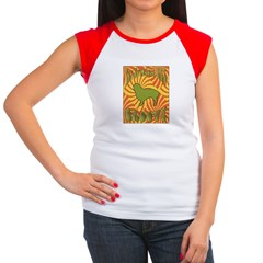 Groovy Spaniels Women's Cap Sleeve T-Shirt