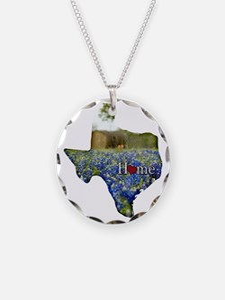 Texas Home Bluebonnets Necklace