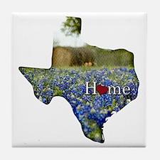 Texas Home Bluebonnets Tile Coaster