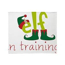 Elf In Training Throw Blanket
