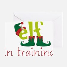 Elf In Training Greeting Card