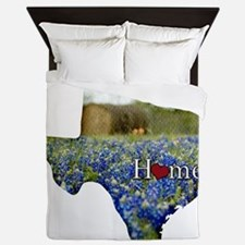 Texas Home Bluebonnets Queen Duvet