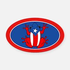 Puerto Rico - PR - Coqui Oval Car Magnet