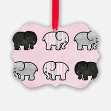 Elephants on Parade Pillow Ornament