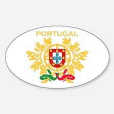 Portugal Products v1 Oval Decal