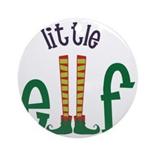 Little Elf Round Ornament