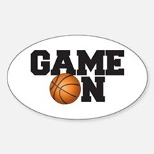 Game On Basketball Sticker (Oval)