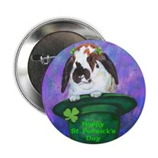 St. Patrick's Rabbit Button