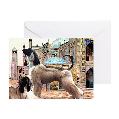 Afghan Hounds in Afghanistan Greeting Cards (Packa