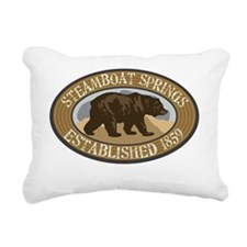 Steamboat Springs Brown  Rectangular Canvas Pillow