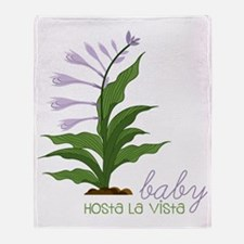 Hosta La Vista Throw Blanket