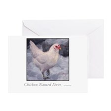 Chicken Named Dove Greeting Card