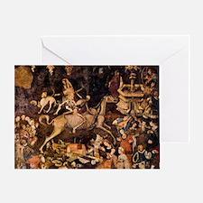 The Triumph of Death, Medieval fresc Greeting Card