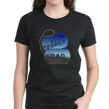 Air Force Dad Dog Tags Tee