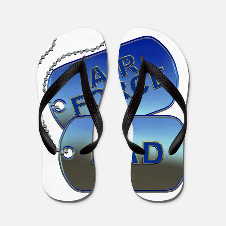 Air Force Dad Dog Tags Flip Flops