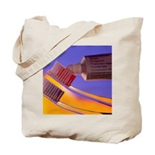 Toothbrush heads and toothpaste tube Tote Bag