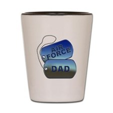 Air Force Dad Dog Tags Shot Glass