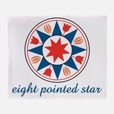 Eight Pointed Star Throw Blanket
