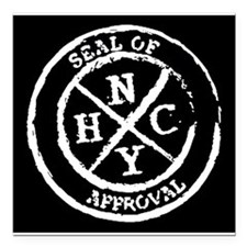 "NYHC Seal of Approval Square Car Magnet 3"" x 3"""