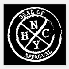 """NYHC Seal of Approval Square Car Magnet 3"""" x 3"""""""