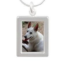 Macie Silver Portrait Necklace