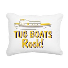 Tug Boats Rock Rectangular Canvas Pillow