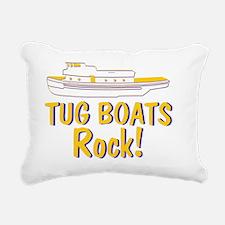 Tug Boats Rock Rectangular Canvas Pillow