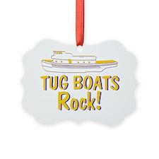 Tug Boats Rock Ornament