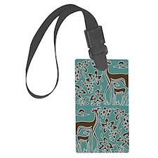Deer in the Vineyard Batik Luggage Tag