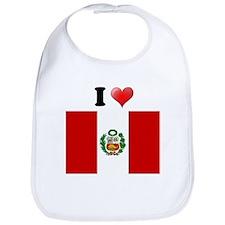 I love Peru Flag Bib