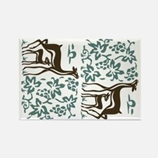 Deer in the Vineyard Batik Rectangle Magnet