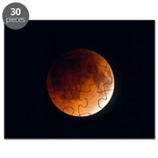 Total lunar eclipse, partial phase Puzzle