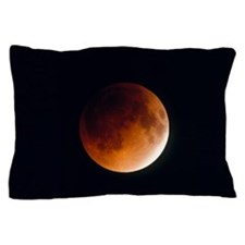 Total lunar eclipse, partial phase Pillow Case