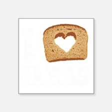 "I Love Carbs (Vintage) Square Sticker 3"" x 3"""