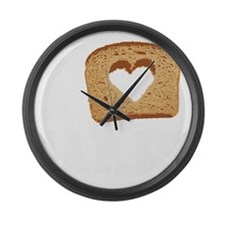 I Love Carbs (Vintage) Large Wall Clock