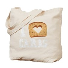 I Love Carbs (Vintage) Tote Bag