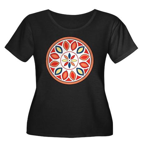 Hex Sign Women's Plus Size Dark Scoop Neck T-Shirt