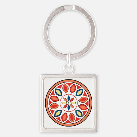 Hex Sign Square Keychain
