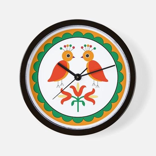 Double Distlefink Wall Clock