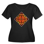 Folk Design 4 Women's Plus Size Scoop Neck Drk Tee
