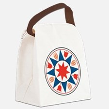 Eight Pointed Star Canvas Lunch Bag
