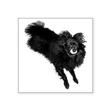 "apparel larger_Joyces Pup Square Sticker 3"" x 3"""