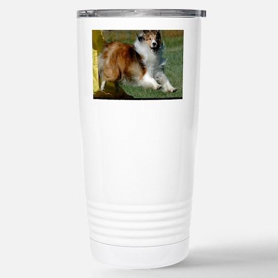 Shetland Sheepdog Coope Stainless Steel Travel Mug
